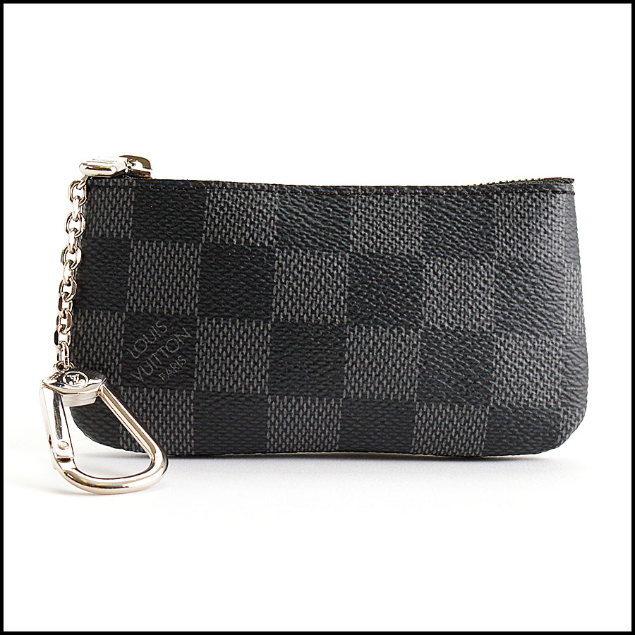 RDC11055 Louis Vuitton Damier Graphite Pochette Cles Coin Purse