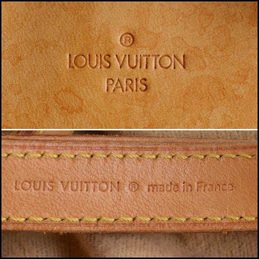 RDC11040 Louis Vuitton Monogram Deauville Bag w/Strap tag