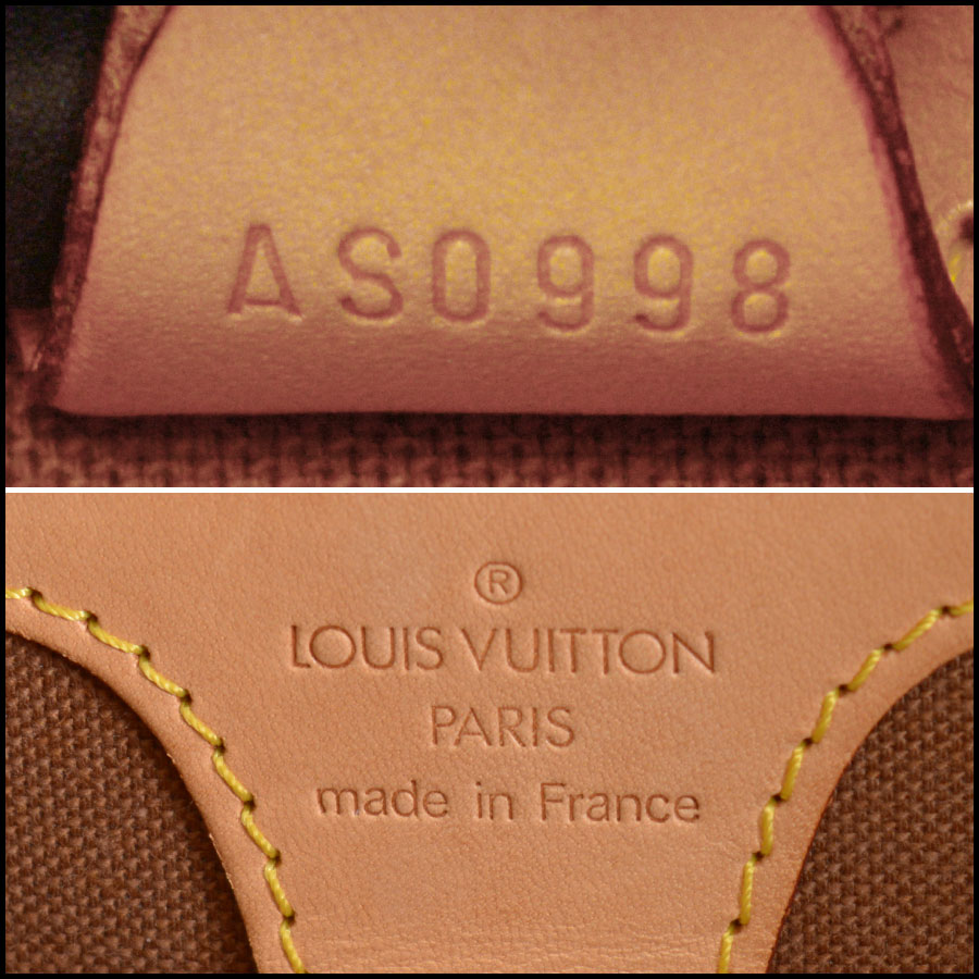 RDC10913 Louis Vuitton LV Monogram Ellipse MM Handbag tag