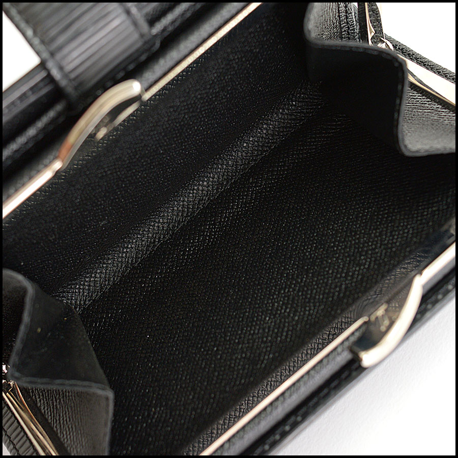 RDC10426 Louis Vuitton Black Epi Leather French Wallet inside