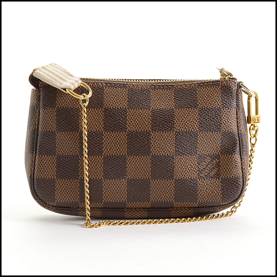 RDC10696 Louis Vuitton Damier Ebene Mini Pochette Bag back