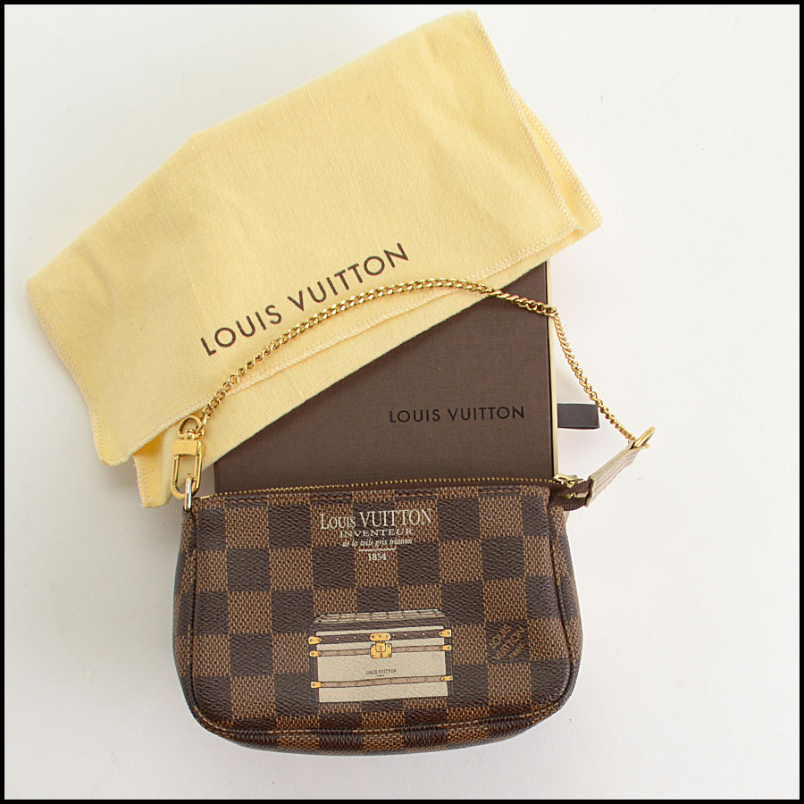 RDC10696 Louis Vuitton Damier Ebene Mini Pochette Bag includes