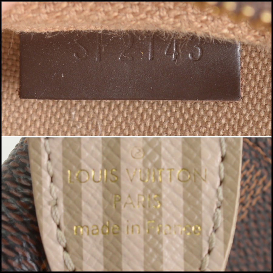 RDC10696 Louis Vuitton Damier Ebene Mini Pochette Bag tag 1