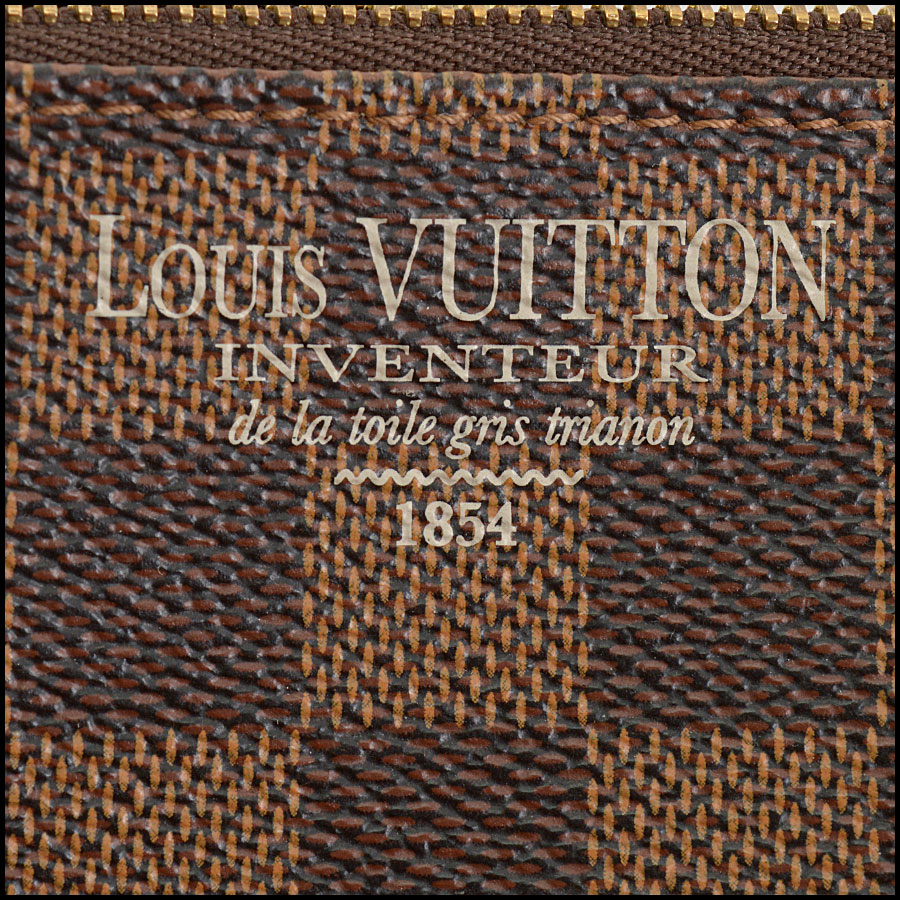 RDC10696 Louis Vuitton Damier Ebene Mini Pochette Bag tag 2