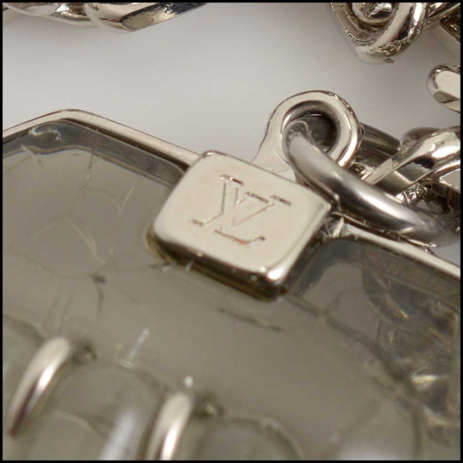 RDC11517 Louis Vuitton Resin/Crystal Necklace tag 1