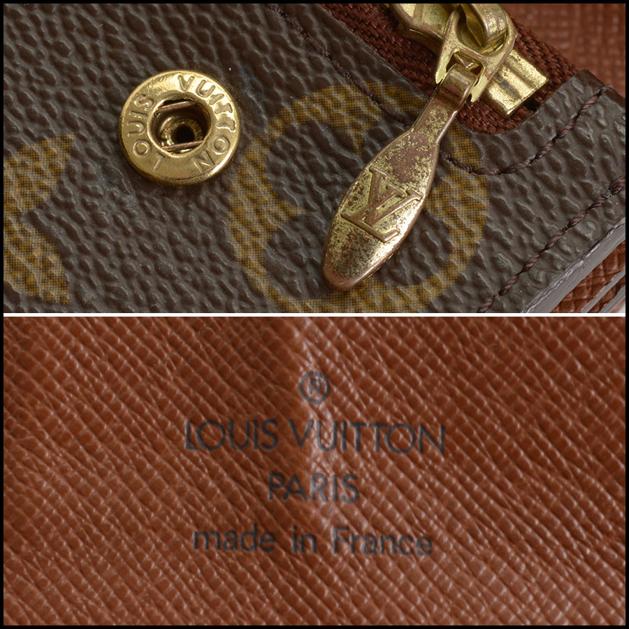 RDC11393 Louis Vuitton Monogram Portefeuille Wallet tag