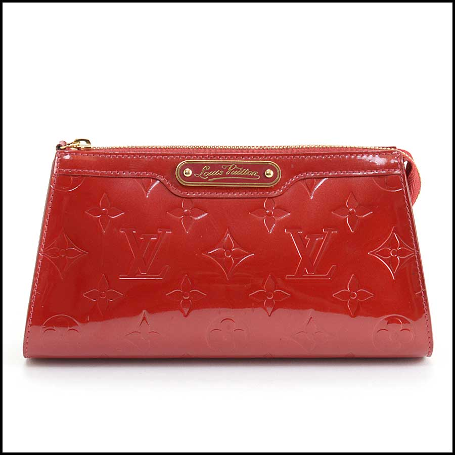 RDC11127 Louis Vuitton Red Vernis Trousse Cosmetic Pouch