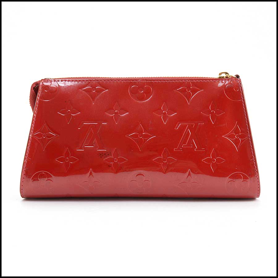 RDC11127 Louis Vuitton Red Vernis Trousse Cosmetic Pouch back