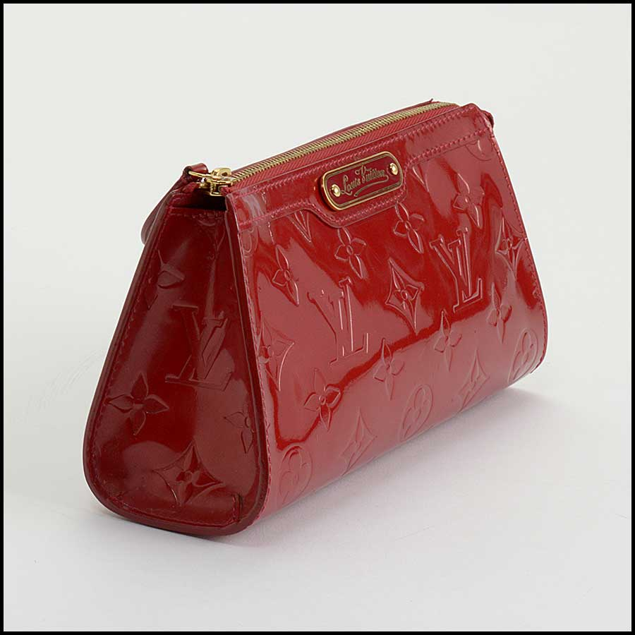 RDC11127 Louis Vuitton Red Vernis Trousse Cosmetic Pouch side