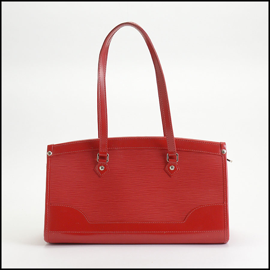 RDC10377 Louis Vuitton Red Epi Leather Madeleine Satchel back