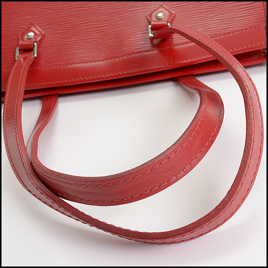 RDC10377 Louis Vuitton Red Epi Leather Madeleine Satchel handle