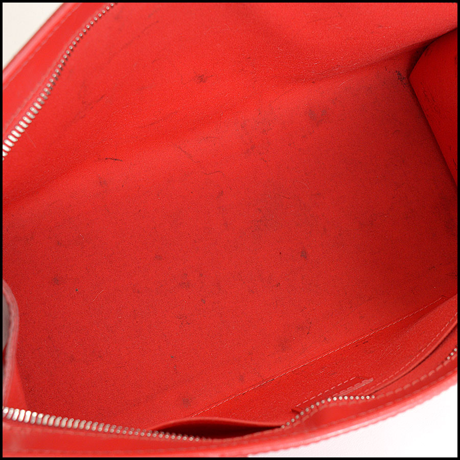 RDC10377 Louis Vuitton Red Epi Leather Madeleine Satchel inside