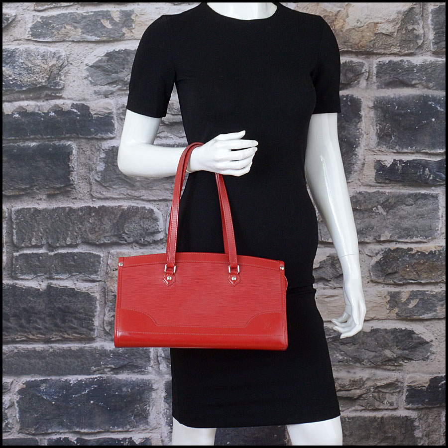 RDC10377 Louis Vuitton Red Epi Leather Madeleine Satchel model