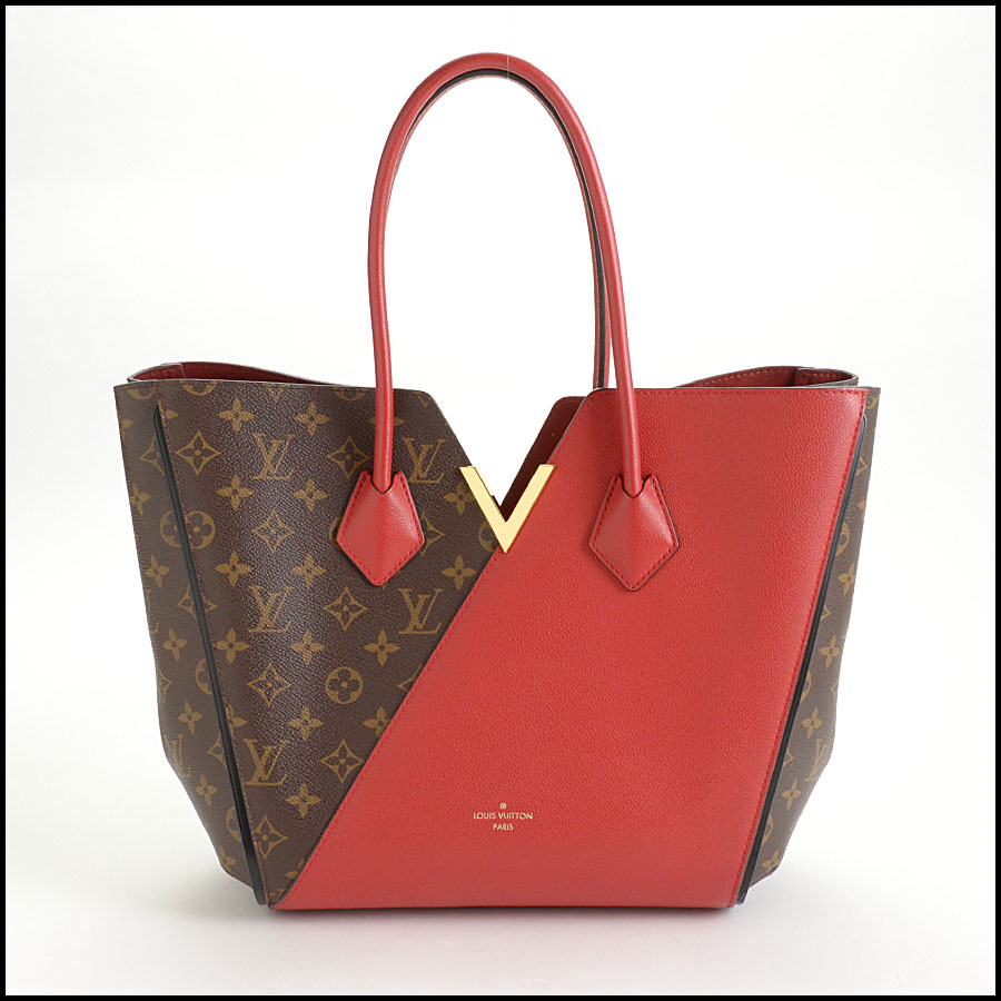 RDC10859 Louis Vuitton Monogram/Red Leather Kimono Tote