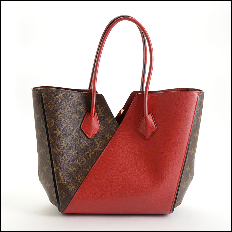 RDC10859 Louis Vuitton Monogram/Red Leather Kimono Tote back