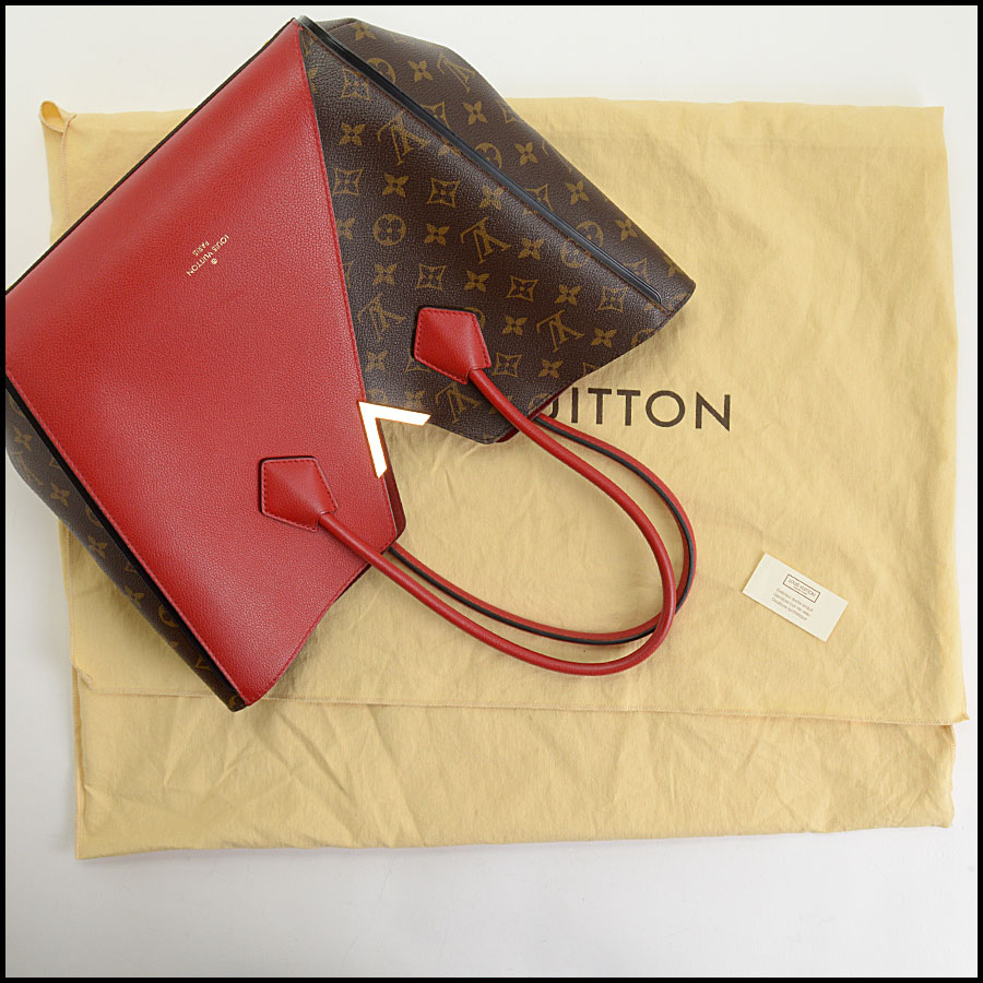 RDC10859 Louis Vuitton Monogram/Red Leather Kimono Tote includes