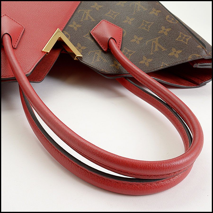 RDC10859 Louis Vuitton Monogram/Red Leather Kimono Tote handle