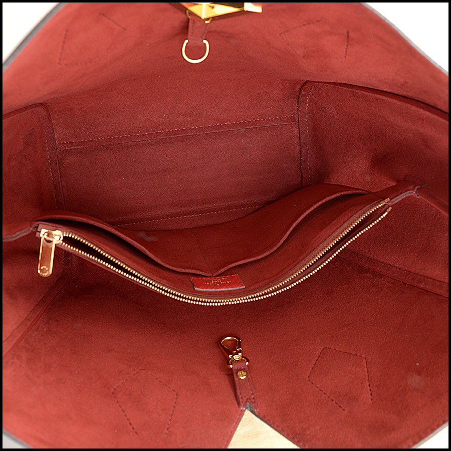 RDC10859 Louis Vuitton Monogram/Red Leather Kimono Tote inside