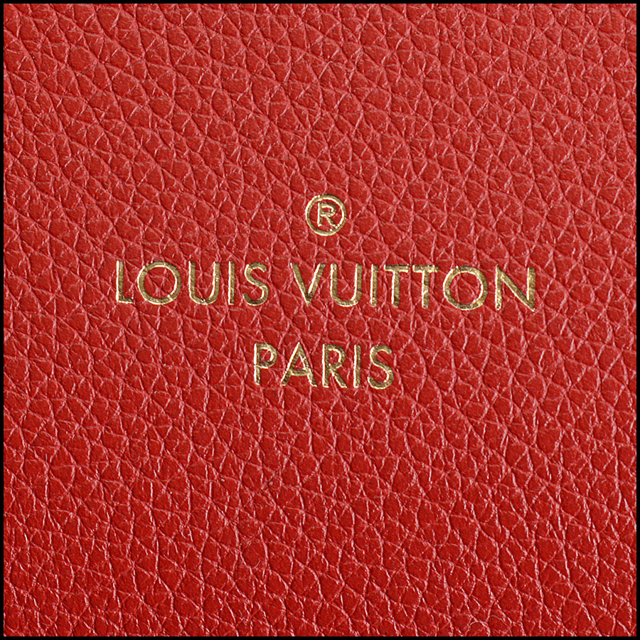 RDC10859 Louis Vuitton Monogram/Red Leather Kimono Tote tag