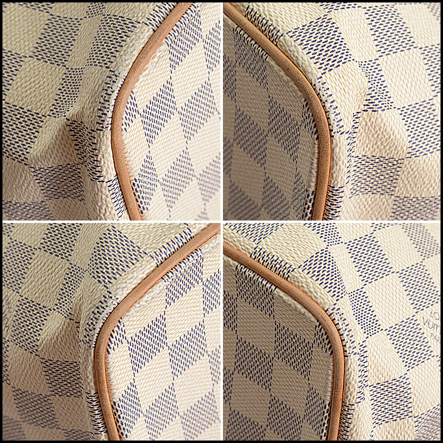 RDC10741 Louis Vuitton Damier Azur Saleya MM Tote corners