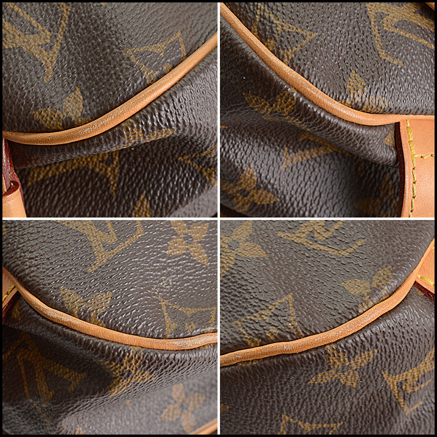 RDC10875 Louis Vuitton 2016 Monogram Saumur MM Crossbody Bag corners