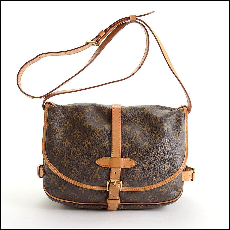 RDC10875 Louis Vuitton 2016 Monogram Saumur MM Crossbody Bag back
