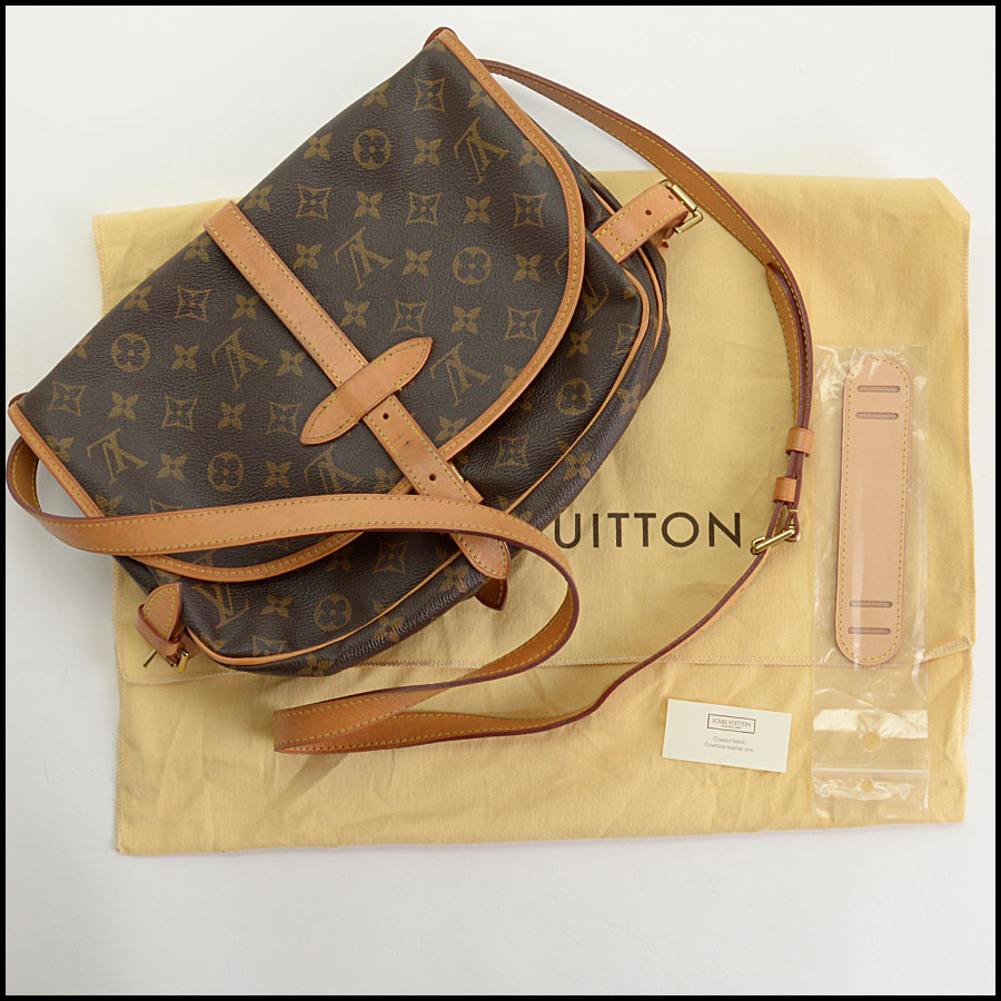 RDC10875 Louis Vuitton 2016 Monogram Saumur MM Crossbody Bag includes