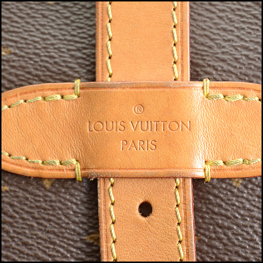 RDC10875 Louis Vuitton 2016 Monogram Saumur MM Crossbody Bag tag