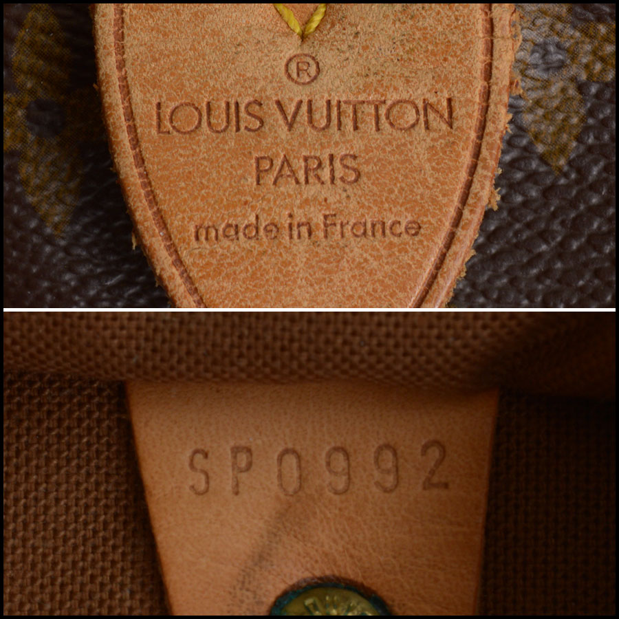 RDC10404 Louis Vuitton LV Monogram Speedy 40 Bag tag