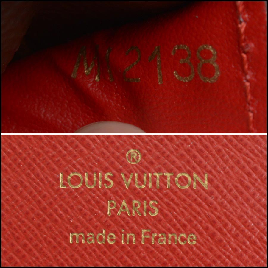 RDC11223 Louis Vuitton Monogram/Red Leather Sarah Wallet tag