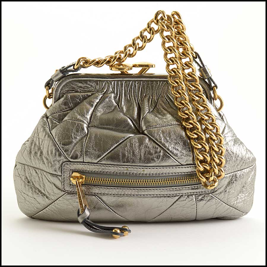 RDC11361 Marc Jacobs Silver Little Stam Bag
