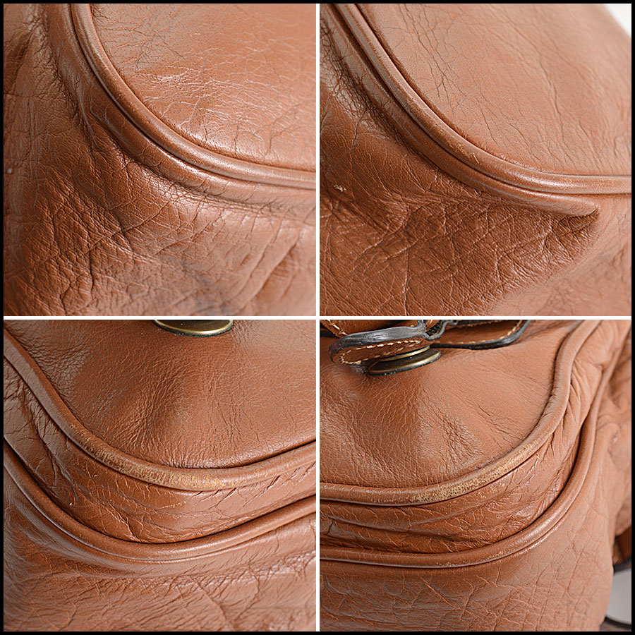 RDC11039 Mulberry Buffalo Leather Alexa Camera Bag corners