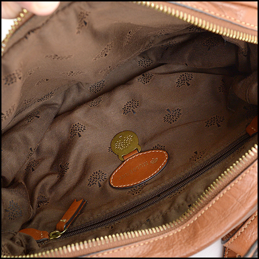 RDC11039 Mulberry Buffalo Leather Alexa Camera Bag inside