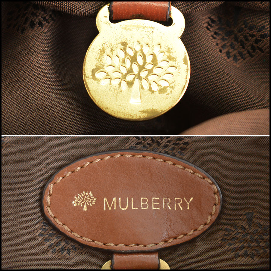 RDC11039 Mulberry Buffalo Leather Alexa Camera Bag tag 1