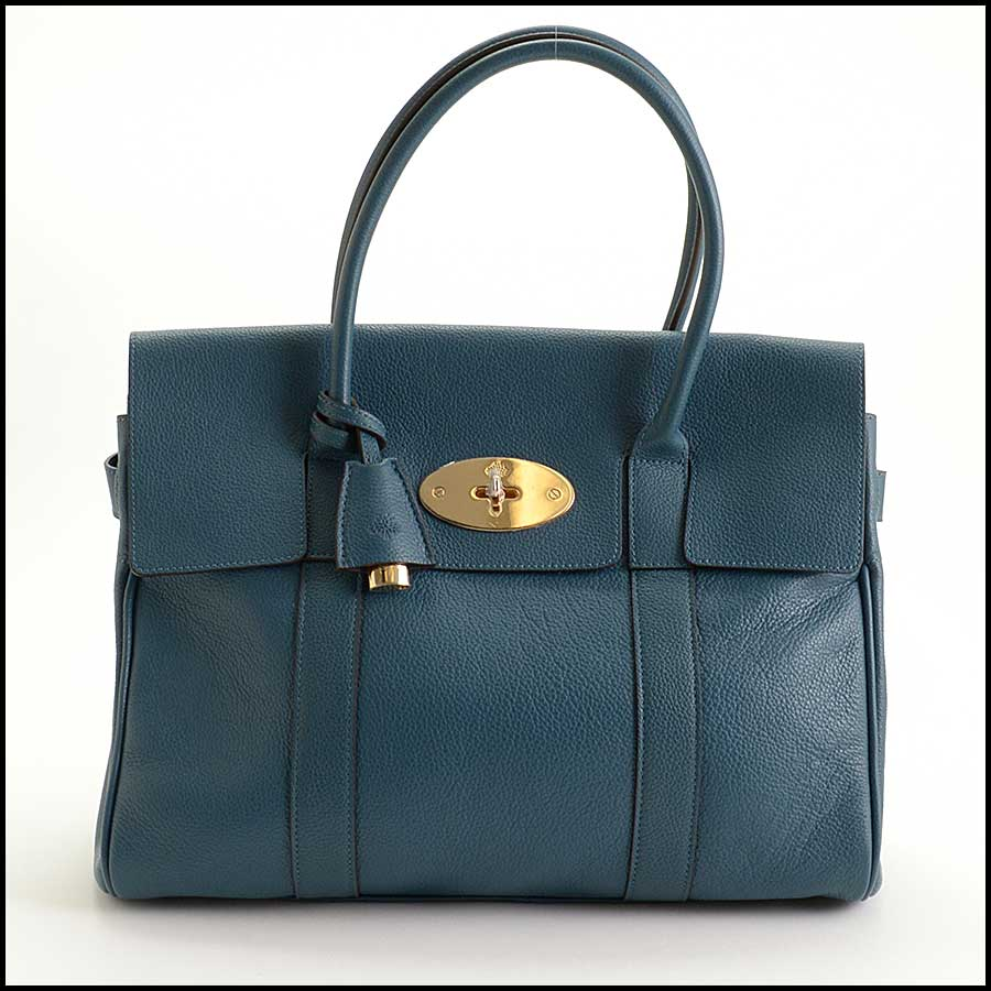 RDC11356 Mulberry Blue Classic Large Bayswater Tote