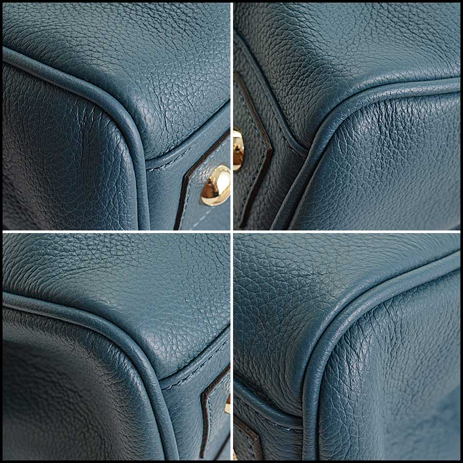 RDC11356 Mulberry Blue Classic Small Bayswater Tote corners