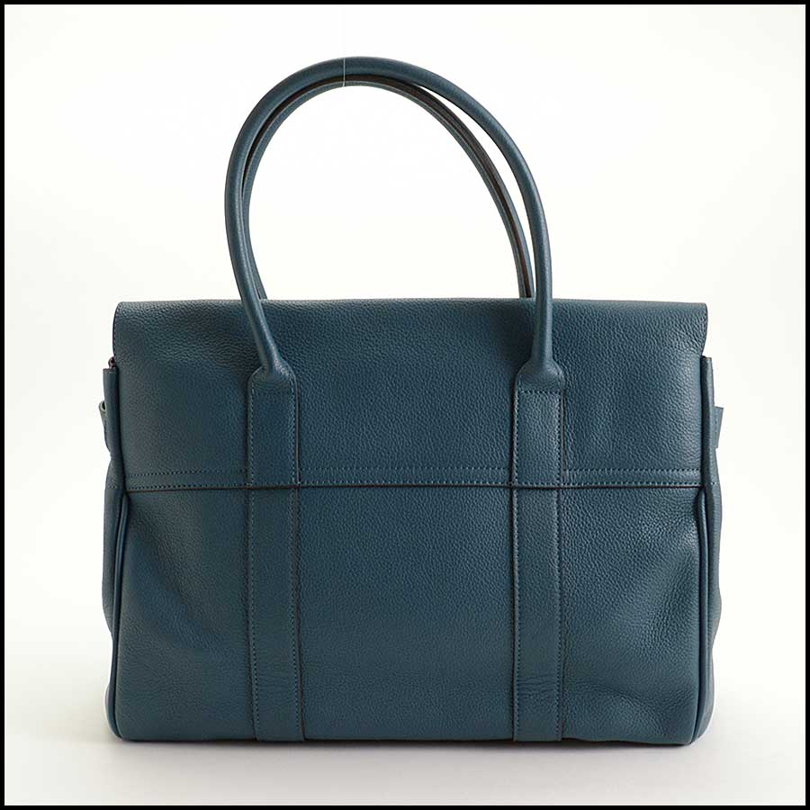 RDC11356 Mulberry Blue Classic Small Bayswater Tote back
