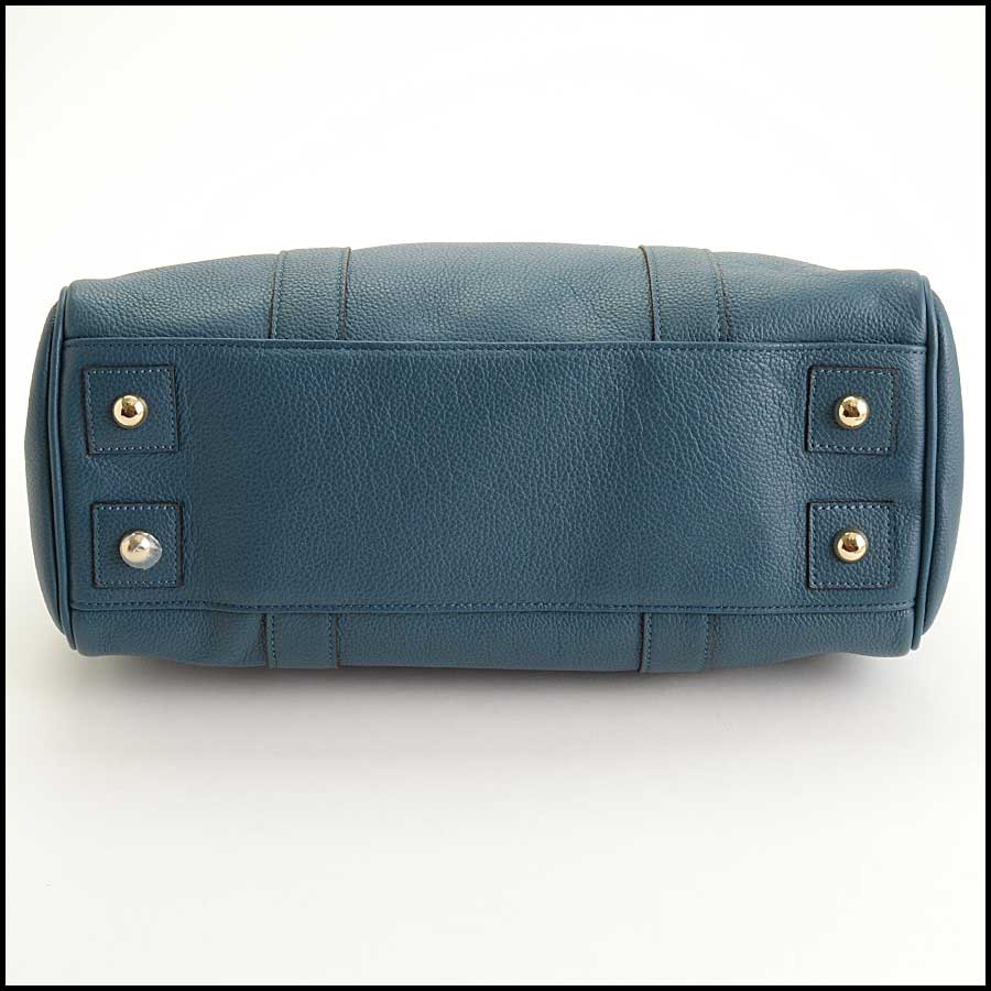 RDC11356 Mulberry Blue Classic Small Bayswater Tote bottom