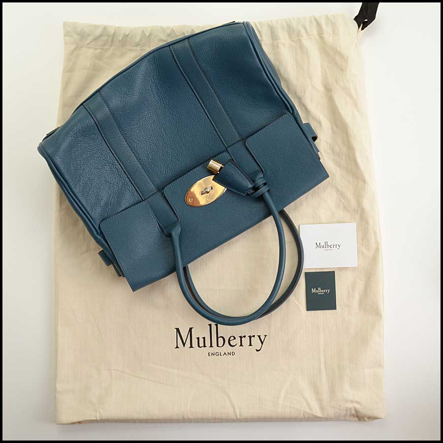 RDC11356 Mulberry Blue Classic Small Bayswater Tote includes