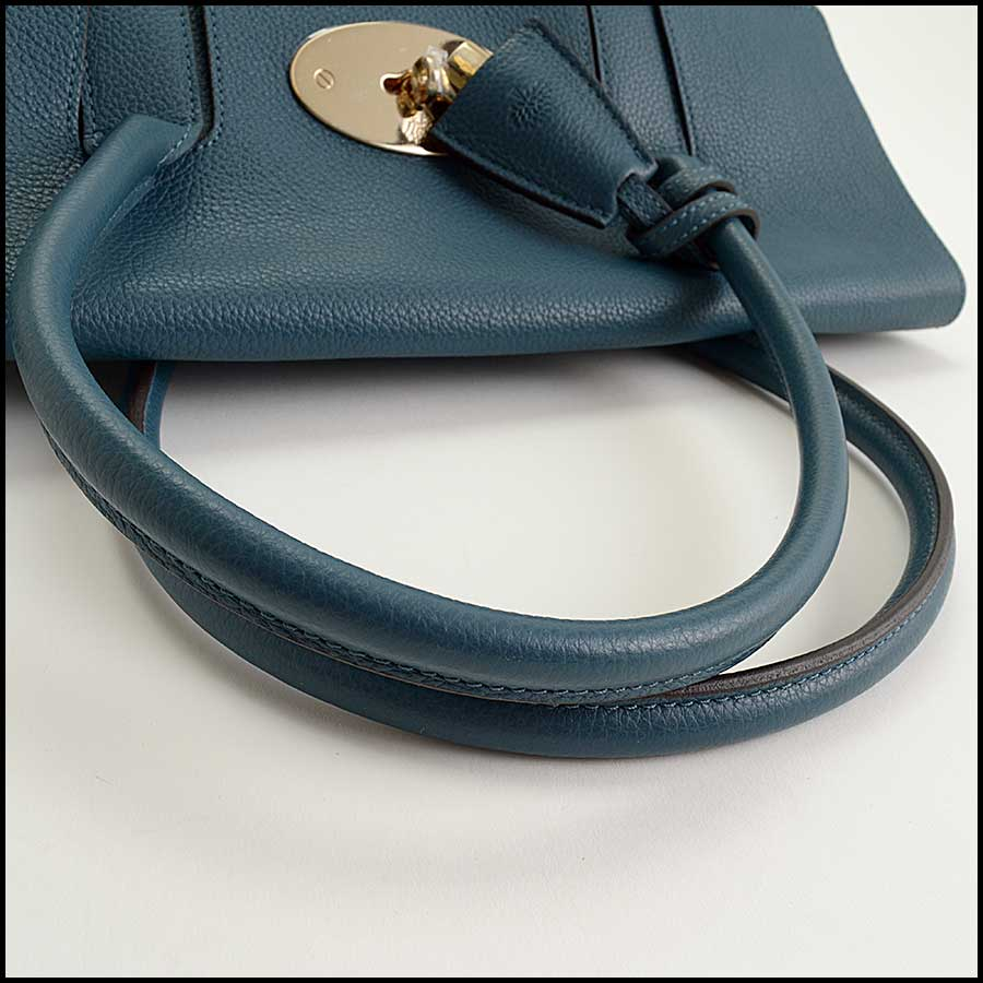 RDC11356 Mulberry Blue Classic Small Bayswater Tote handle