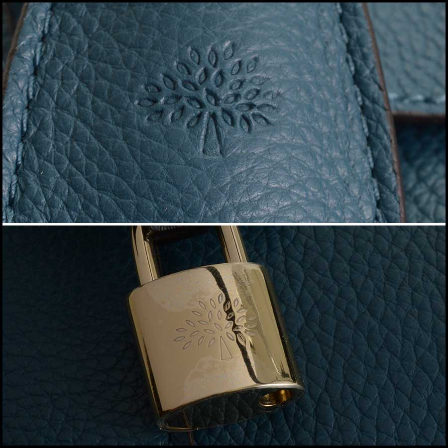 RDC11356 Mulberry Blue Classic Small Bayswater Tote tag 1