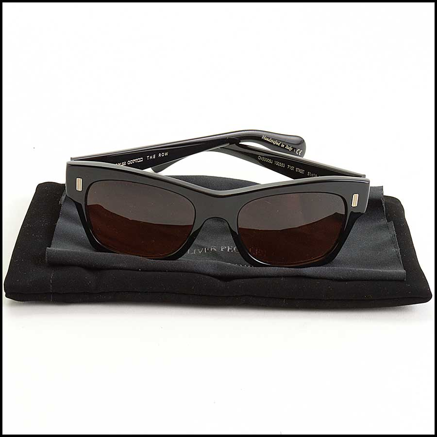 RDC11381 Oliver Peoples/The Row Black Sunglasses