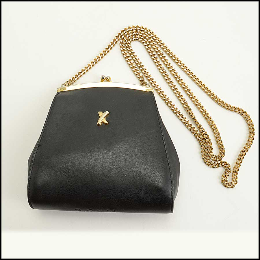 RDC11474 By Paloma Picasso Black Leather Chain Strap Bag