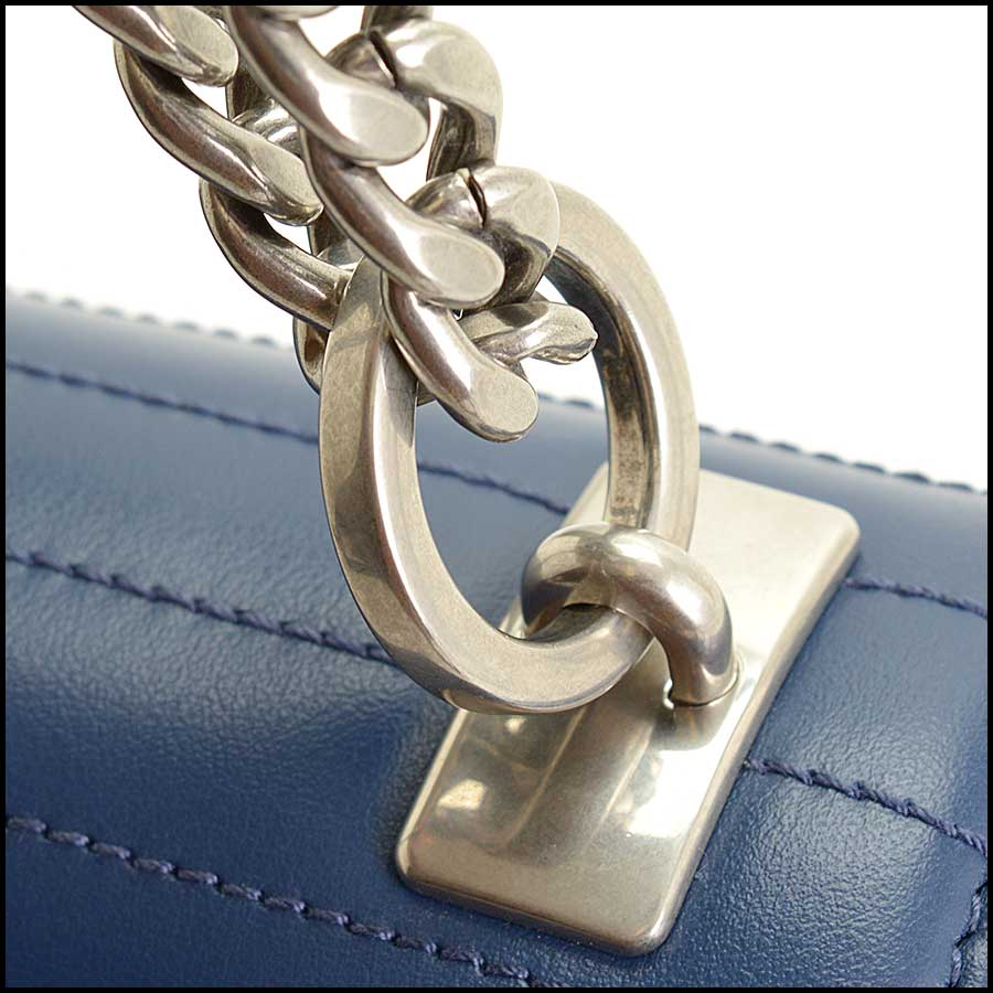 RDC11423 Prada Blue Quilted Diagramme Bag close up