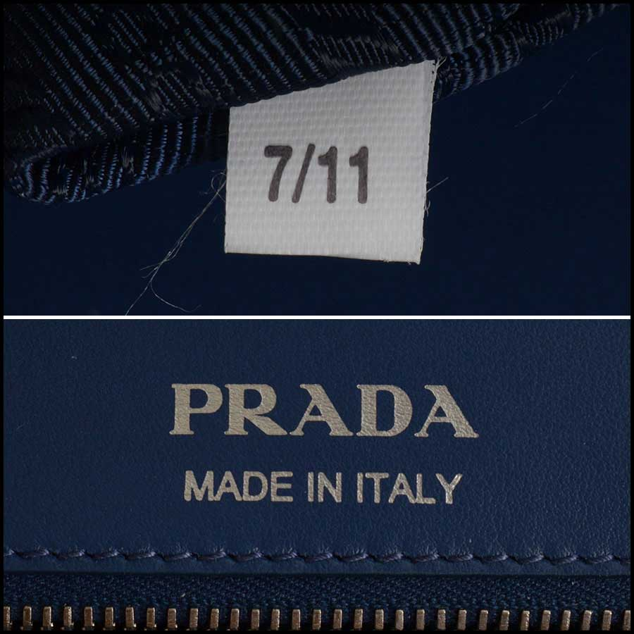 RDC11423 Prada Blue Quilted Diagramme Bag tag 1