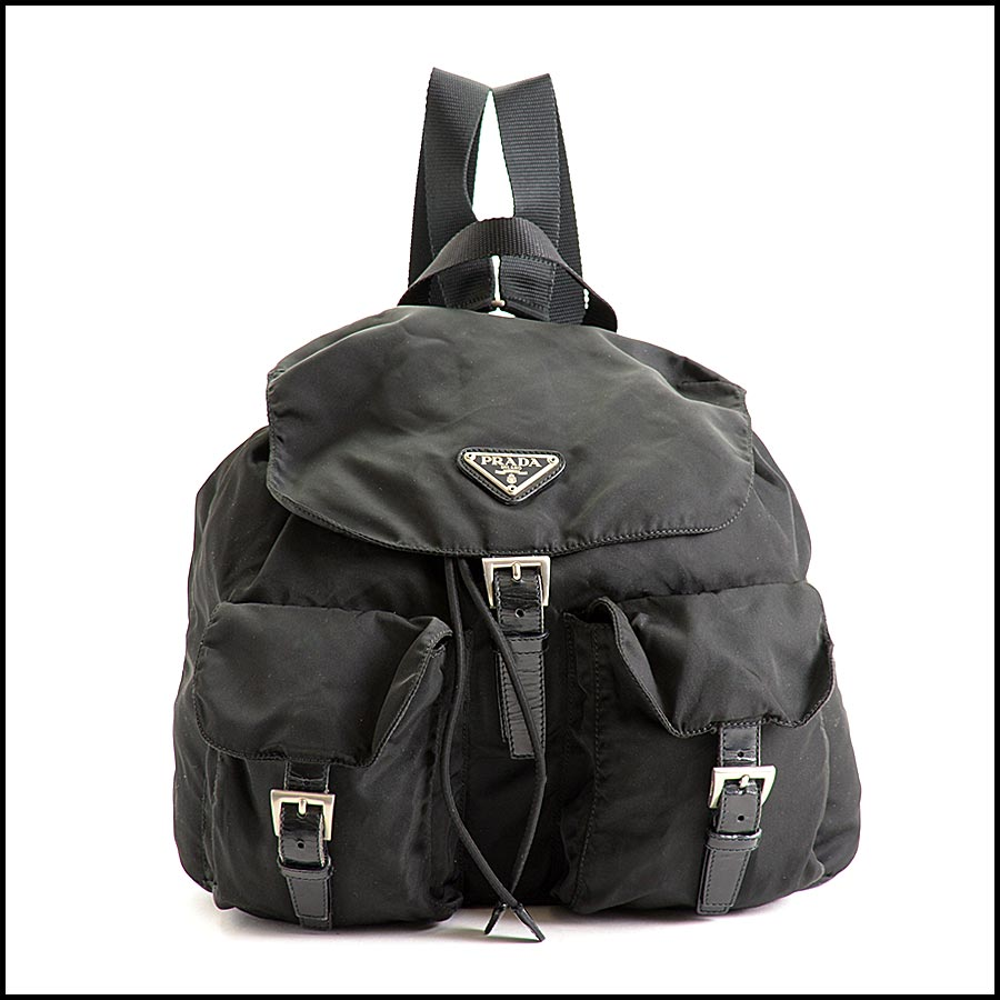RDC11249 Prada Black Nylon Backpack