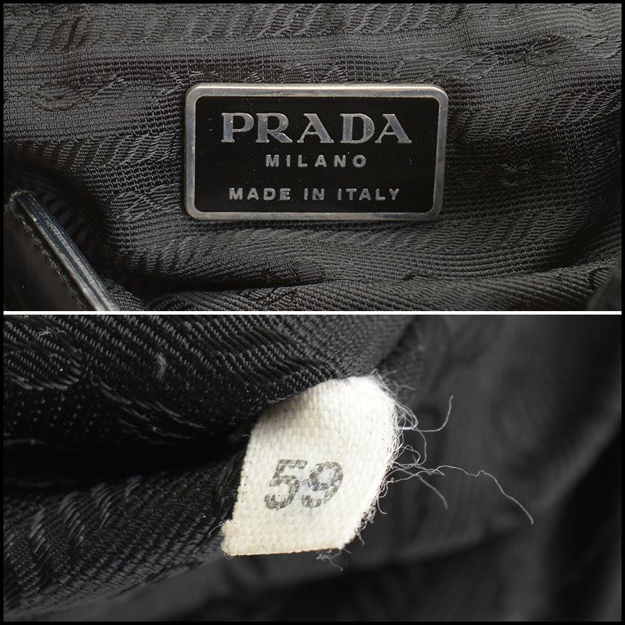 RDC11249 Prada Black Nylon Backpack tag 1