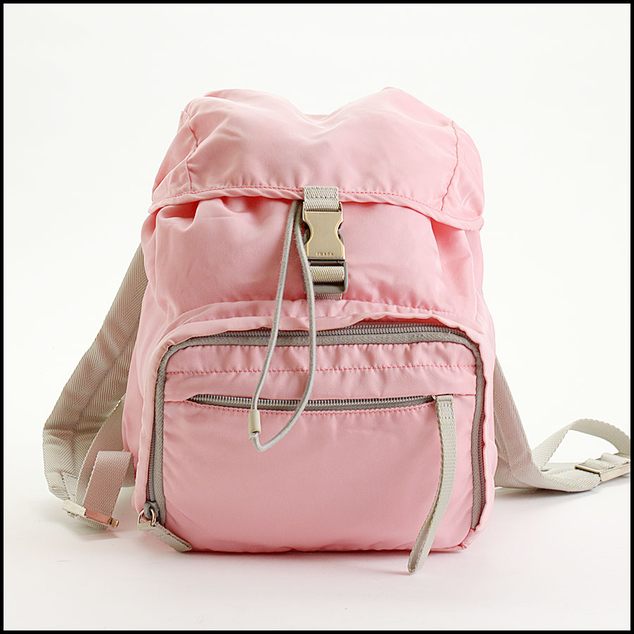 RDC10981 Prada Pink Nylon Small Backpack