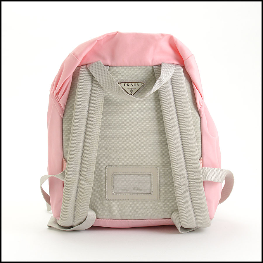RDC10981 Prada Pink Nylon Small Backpack back