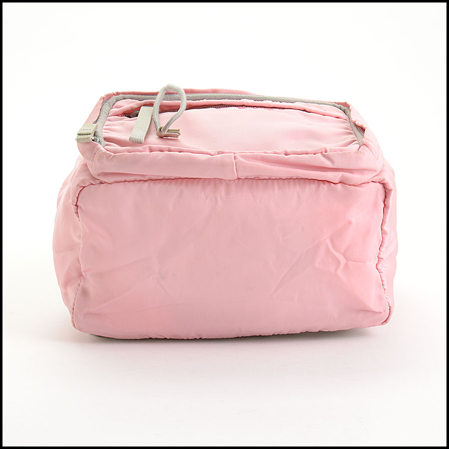 RDC10981 Prada Pink Nylon Small Backpack bottom